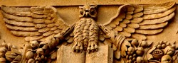 cropped owl in architecture
