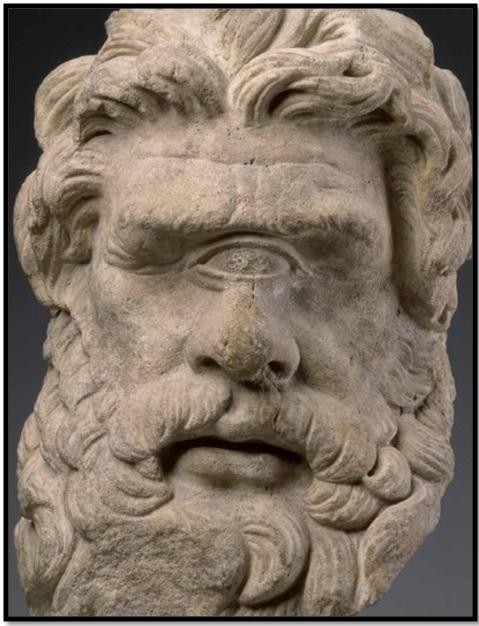 Oculto en Italia: Ruinas ciclópeas prohibidas, (¿de gigantes de la Atlántida?) Cyclopes-statue-stone
