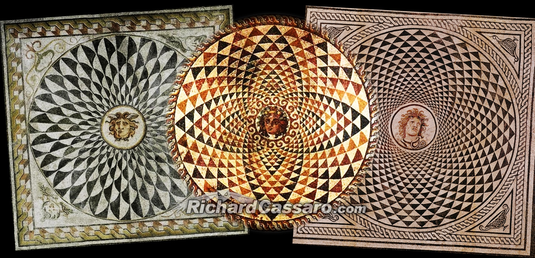 The esoteric meaning of mediterranean mosaics ruins of a for Mosaic painting meaning