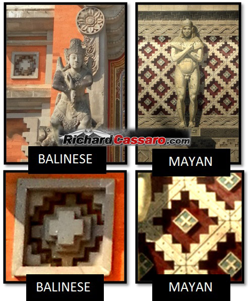 Bali Maya Chakana Cross Parallels - Las Civilizaciones Paralelas