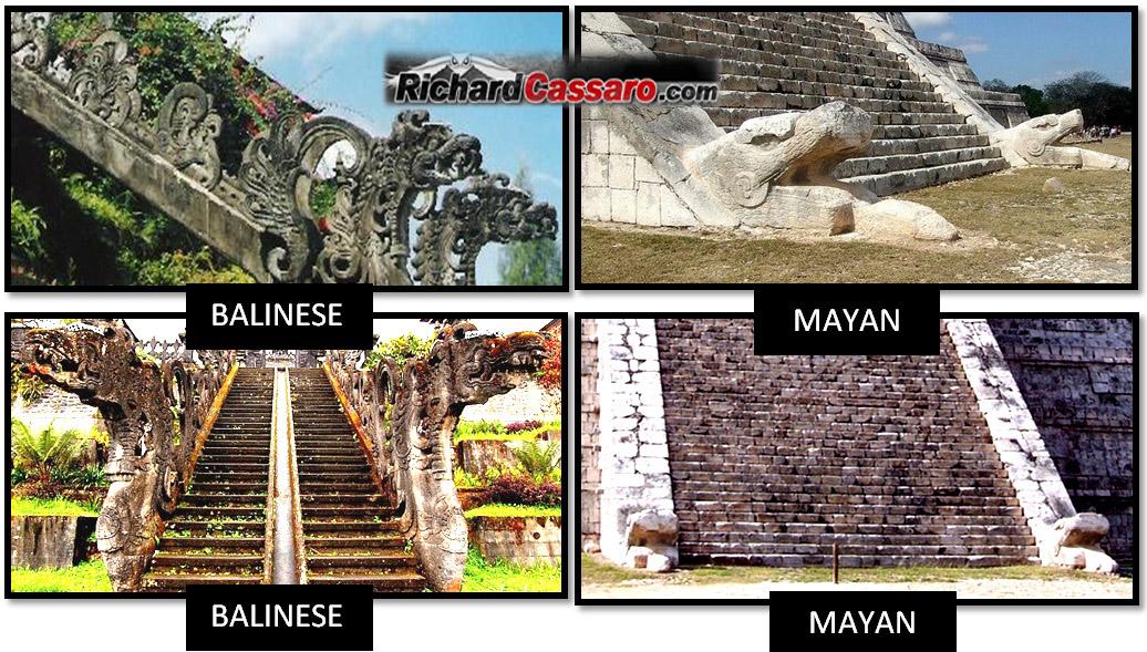 Besakih temple El Castillo Mayans Balinese