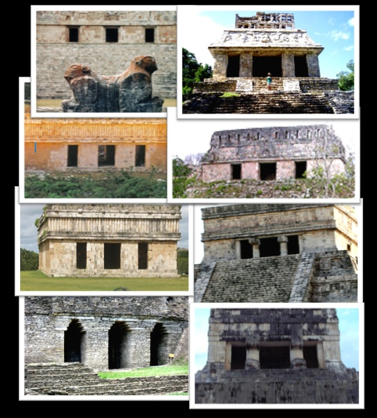 eight mayan triptychs