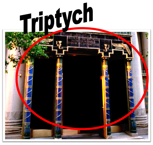 pythian temple triptych