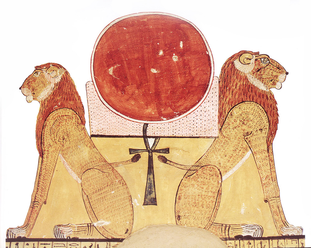 The Esoteric Meaning Of Egypts Aker Lions Richard Cassaro